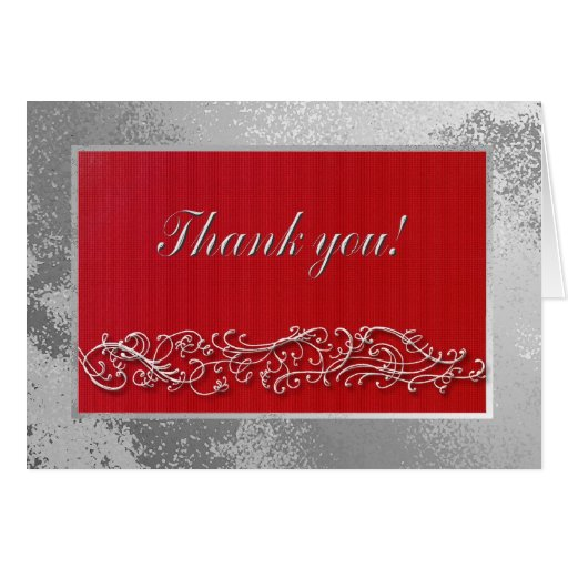 Thank You To Guests Birthday Dinner, Elegant Red Card