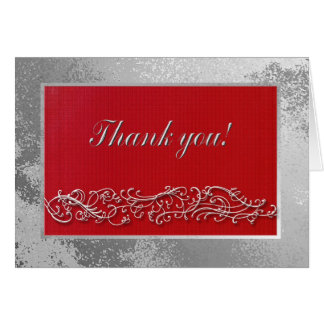 Thank you to Guests Birthday Dinner, Elegant Red Stationery Note Card