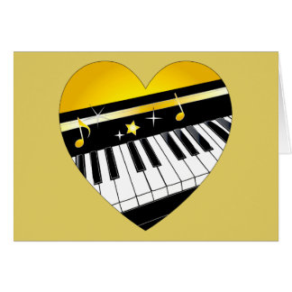 Thank You to My Accompanist Piano in a Heart Card