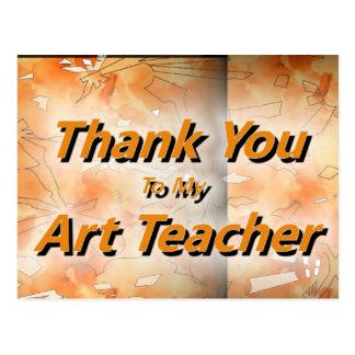 Thank You To My Art Teacher Postcard