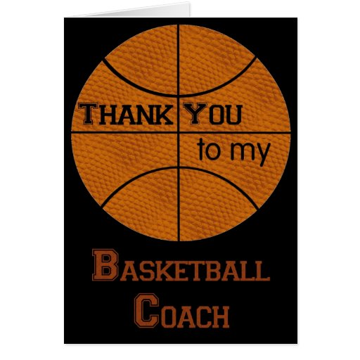 Thank You to my Basketball Coach Greeting Card