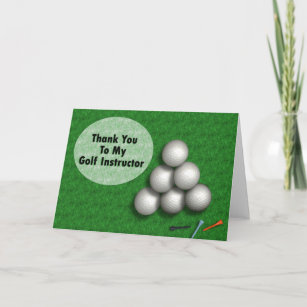 golf thank you cards zazzle