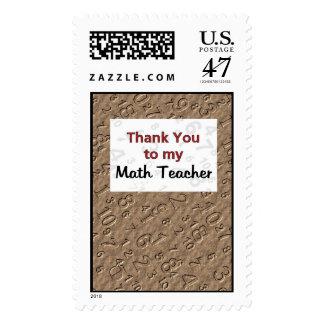 Thank You to my Math Teacher Postage