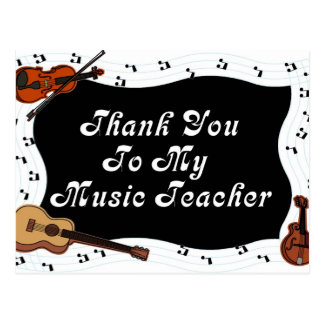 Thank You To My Music Teacher Post Card