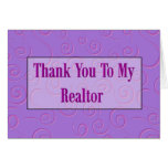 Thank You To My Realtor Greeting Cards