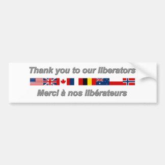 thank_you_to_our_liberators.png pegatina para auto