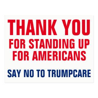 Thank You to Saying NO to Trumpcare AHCA Postcard