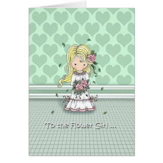 Thank You to the Flower Girl Card