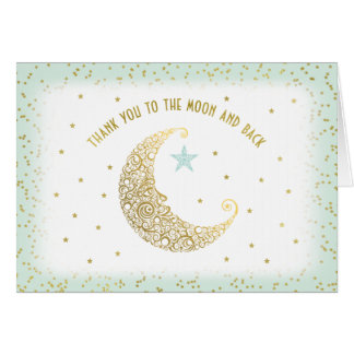 Thank You to the Moon and Back Twinkle Little Star Card