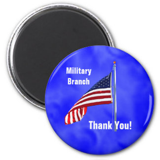 Thank You to Troops 2 Inch Round Magnet