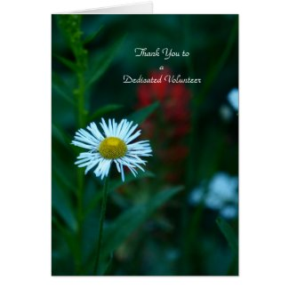 Thank You to Volunteers Note Card, White Flower