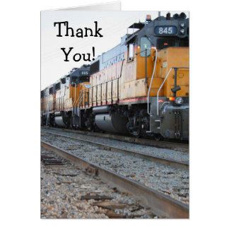 Thank You Train greeting card