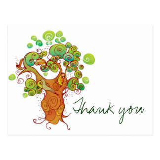 Thank you tree post card