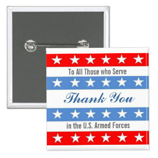 Thank You Troops 2 Inch Square Button