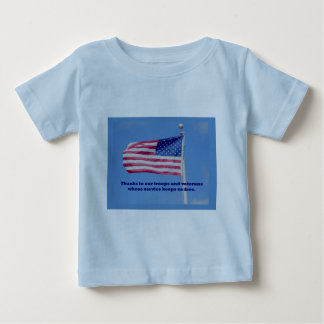 Thank You Troops American Flag Baby T-Shirt