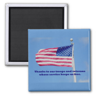 Thank You Troops American Flag Magnet