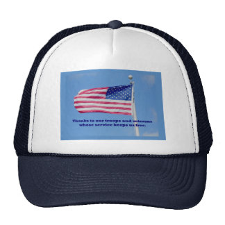 Thank You Troops American Flag Trucker Hat