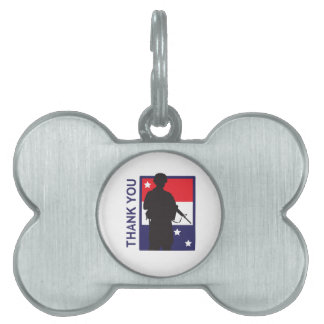 THANK YOU TROOPS PET TAGS