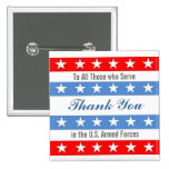 Thank You Troops Pinback Buttons