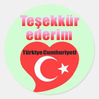 Thank you Turkey Classic Round Sticker