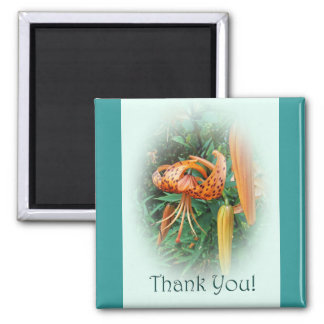 Thank You - Turk's Cap Lily Wildflower Magnet