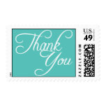 Thank You Turquoise Blue Wedding Postage