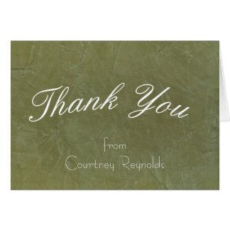 Thank You Tuscan Green Greeting Card