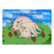 Thank You two pigs piggin awsome