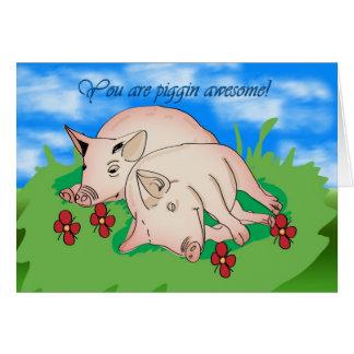 Thank You two pigs piggin awsome Card