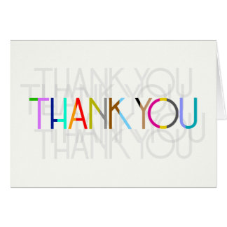 Thank You Typography Card (Color Options!)