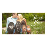 Thank You Typography Wedding Photo Cards