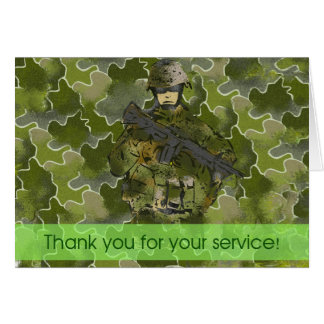 Thank You : Uniformed Soldier (ThankYou1001) Card