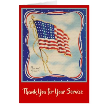 THANK YOU USA AMERICAN FLAG VETERANS CARD