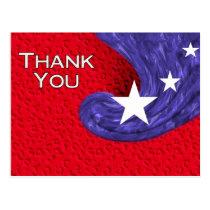 Thank You USA Postcard