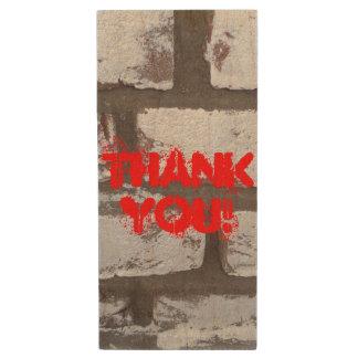 Thank You!, USB flash drive, graffiti wall Wood USB Flash Drive