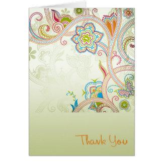Thank You v1 Greeting Card
