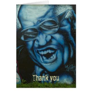 Thank you - vampire grunge graffiti card