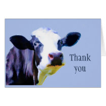 Thank you very Moo ch Funny Cow Card