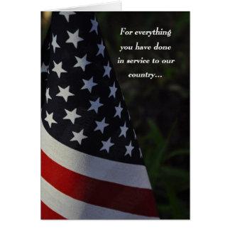 Thank You Veteran on Veteran s Day Flag Card