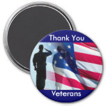 Thank You Veterans 3 Inch Round Magnet
