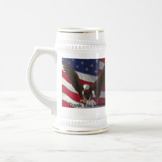 Thank You Veterans Beer Stein