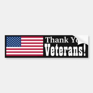 Thank You Veterans! Bumper Sticker
