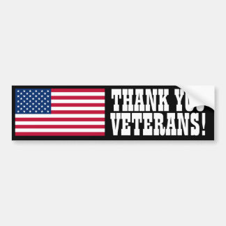Thank You Veterans! Bumper Stickers
