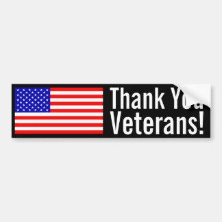 Thank You Veterans! Car Bumper Sticker