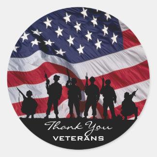 Thank You Veterans Classic Round Sticker