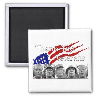 Thank You Veterans Fridge Magnets