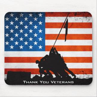 Thank You Veterans Mouse Pad