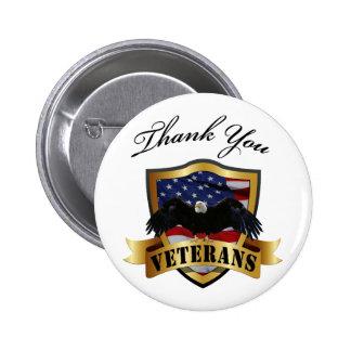 Thank You Veterans Pinback Button