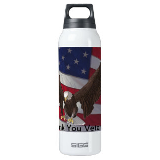 Thank You Veterans 16 Oz Insulated SIGG Thermos Water Bottle