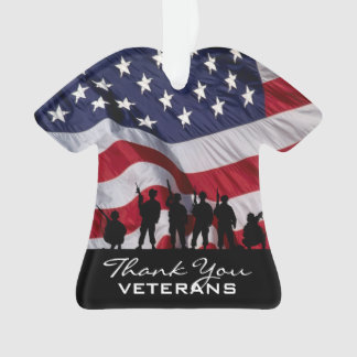 Thank you Veterans - Soldiers silhouette Ornament